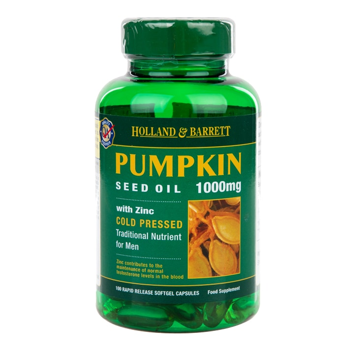 Holland & Barrett Pumpkin Seed Oil Capsules 1000mg