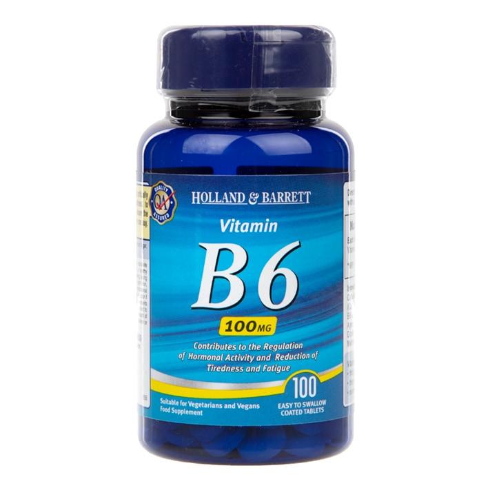 Holland & Barrett Vitamin B6 100 Tablets 100mg