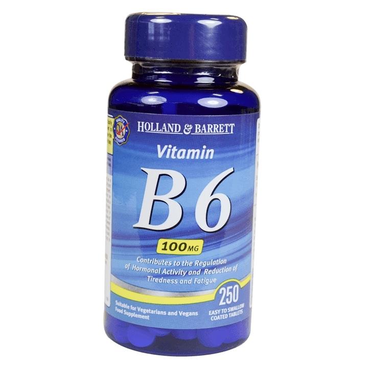 Holland & Barrett Vitamin B6 250 Tablets 100mg