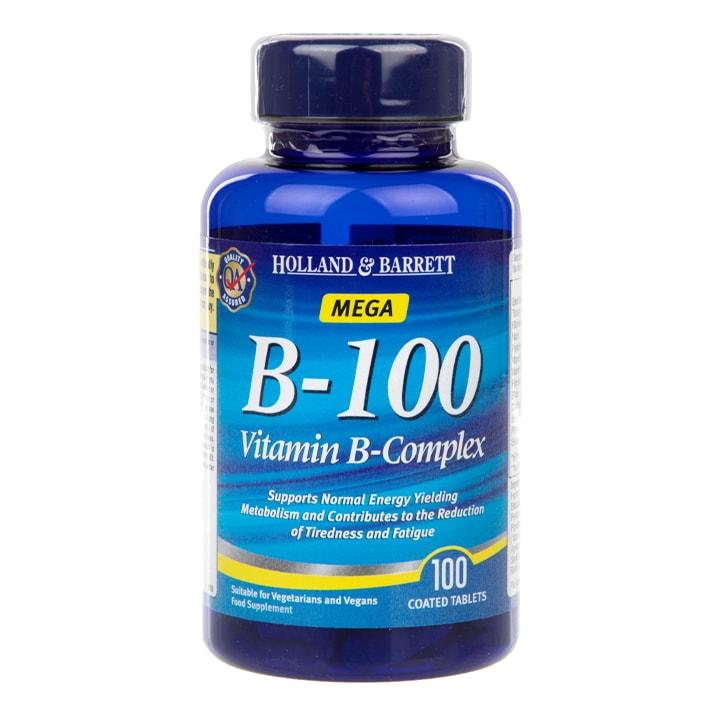 Holland & Barrett Mega B-100 Vitamin B Complex 100 Caplets