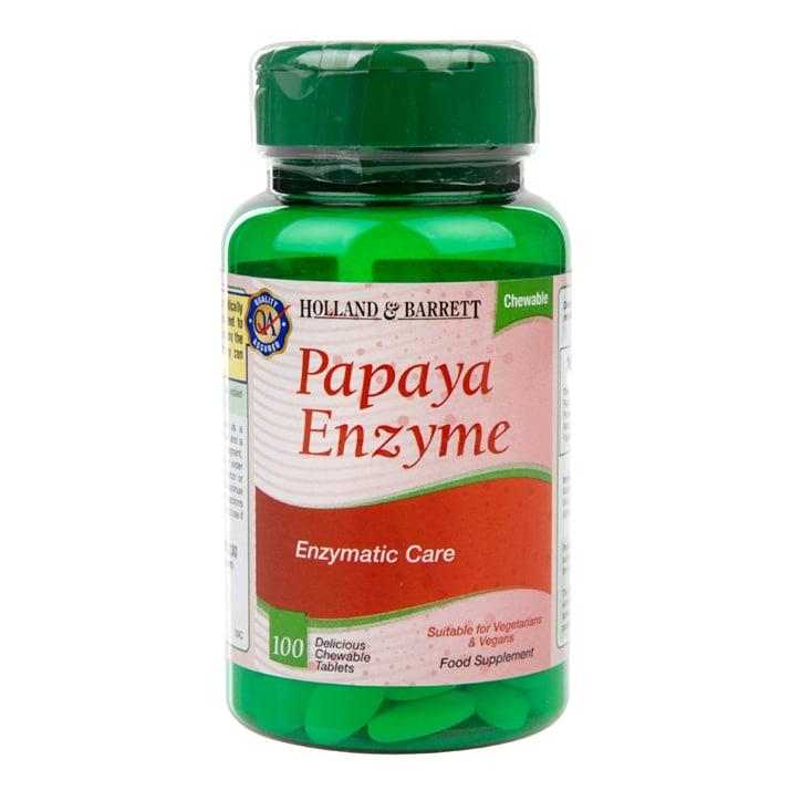 Holland & Barrett Papaya Enzyme 100 Chewable Tablets