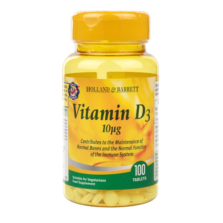 Holland & Barrett Vitamin D3 Tablets 10ug