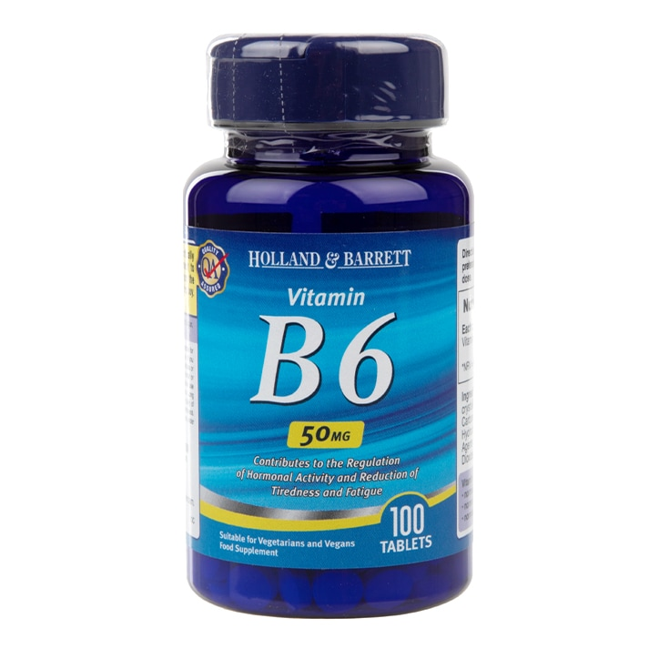 Holland & Barrett Vitamin B6 100 Tablets 50mg