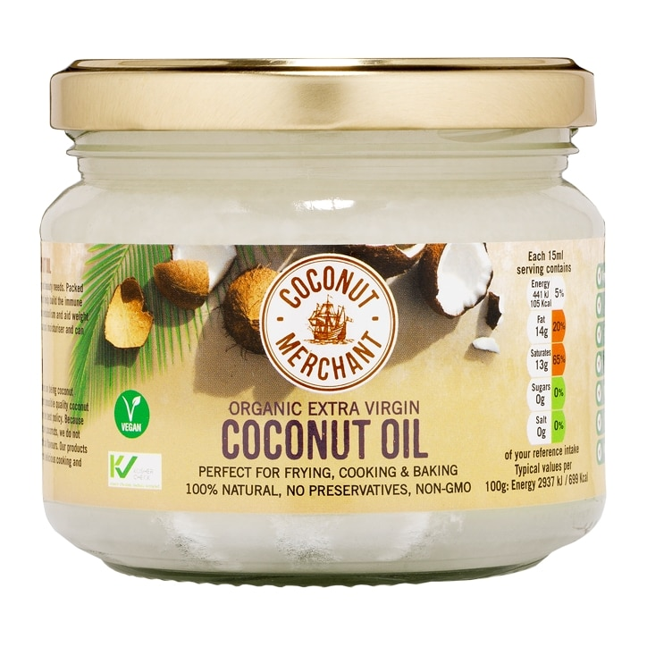 Coconut Merchant Organic Raw Extra Virgin Coconut Oil 300ml