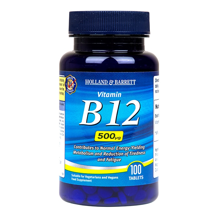 Holland & Barrett Vitamin B12 100 Tablets 500ug