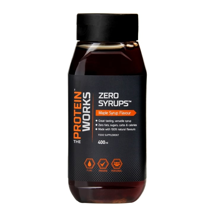 The Protein Works Zero Syrups Maple Syrup Flavour 400ml