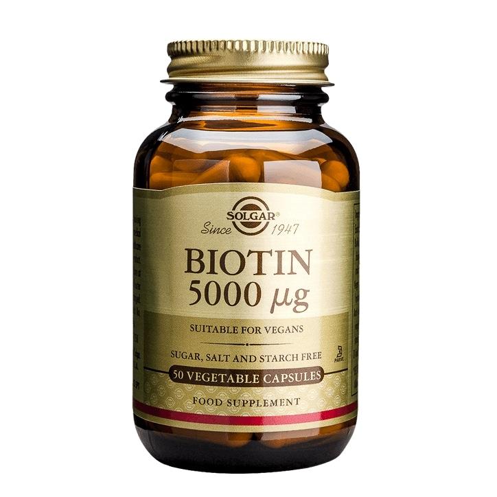 Solgar Biotin 5000µg 50 Vegi Capsules