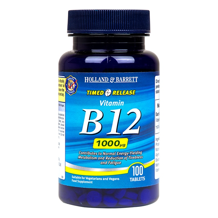 Holland & Barrett Timed Release Vitamin B12 Tablets 1000ug