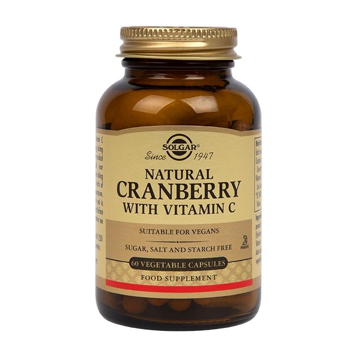 Solgar Natural Cranberry with Vitamin C 60 Vegi Capsules