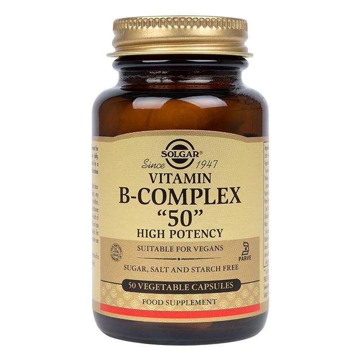 "Solgar Vitamin B-Complex ""50"" High Potency 50 Vegi Capsules"