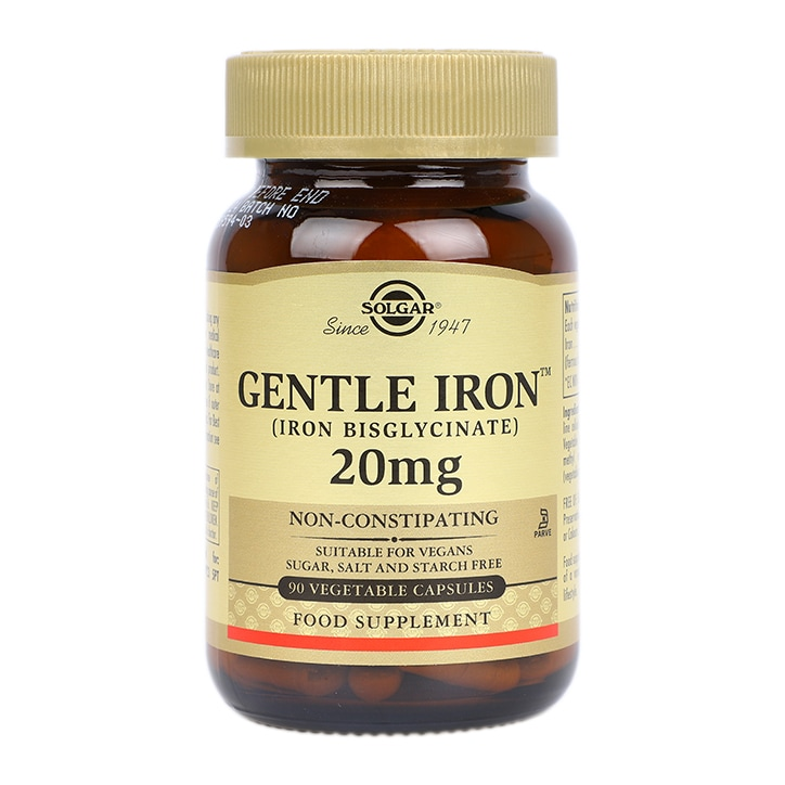 Solgar Gentle Iron 20mg 90 Vegi Capsules