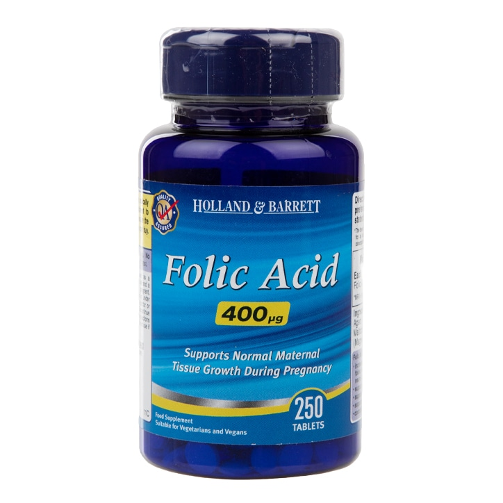 Holland & Barrett Folic Acid Tablets 400ug