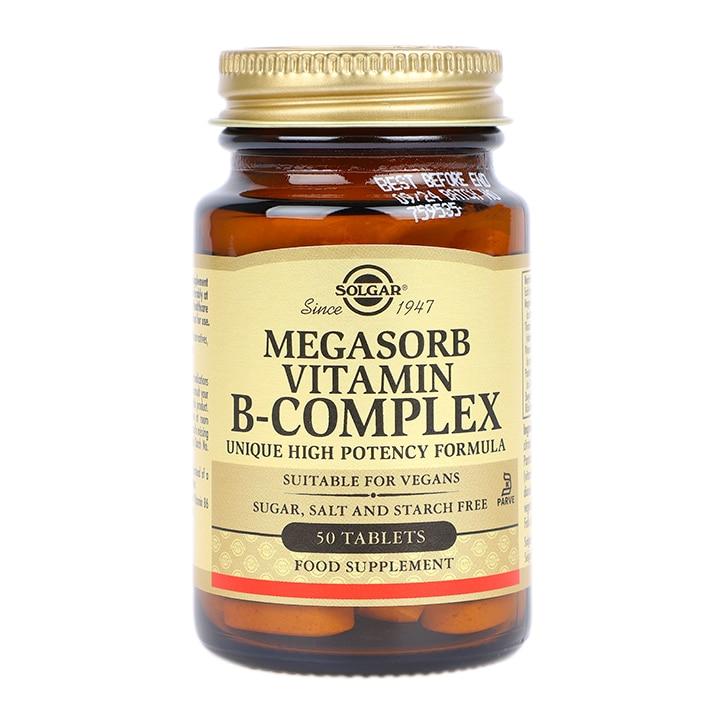 Solgar Megasorb Vitamin B-Complex Tablets