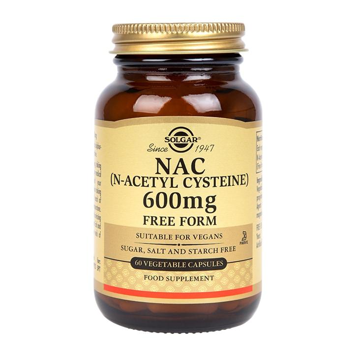 Solgar N-Acetyl Cysteine 600mg Free Form 60 Vegi Capsules