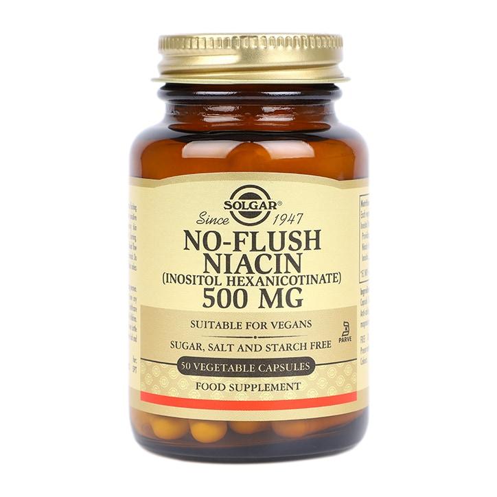 Solgar No-Flush Niacin 500mg 50 Vegi Capsules