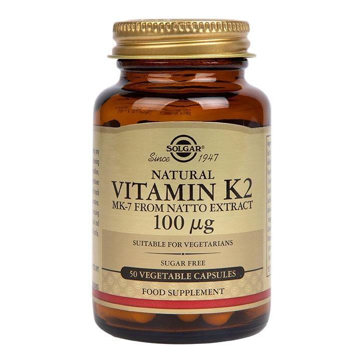 Solgar Vitamin K2 100µg Vegi Capsules