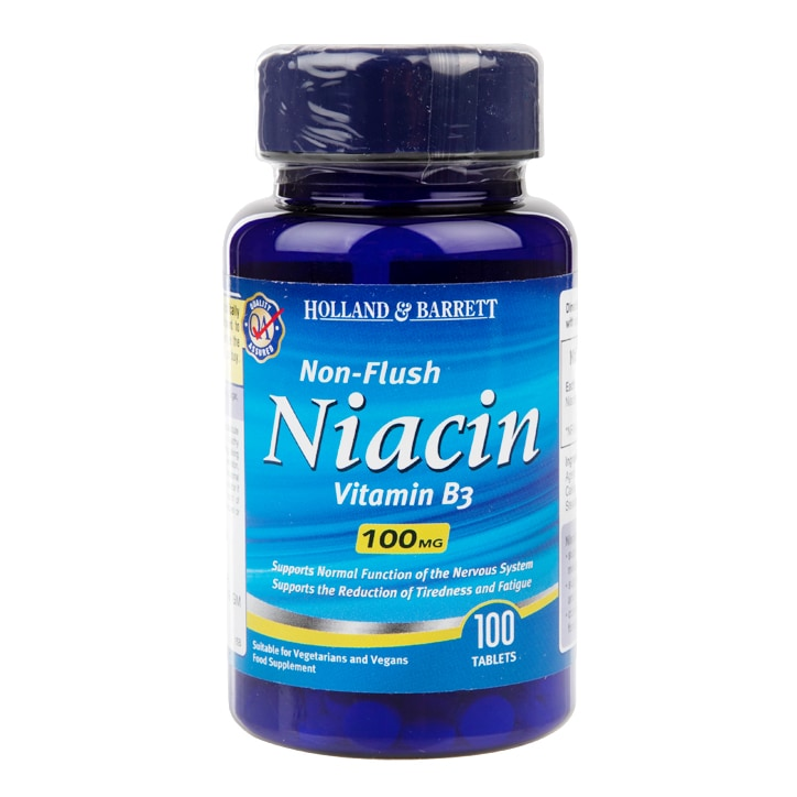 Holland & Barrett Niacin B3 100 Tablets 100mg