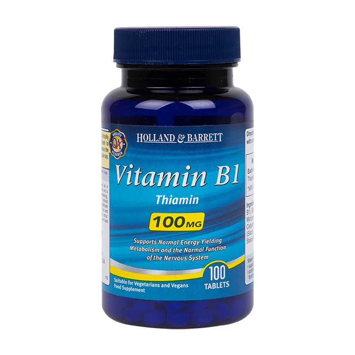 Holland & Barrett Vitamin B1 Tablets 100mg