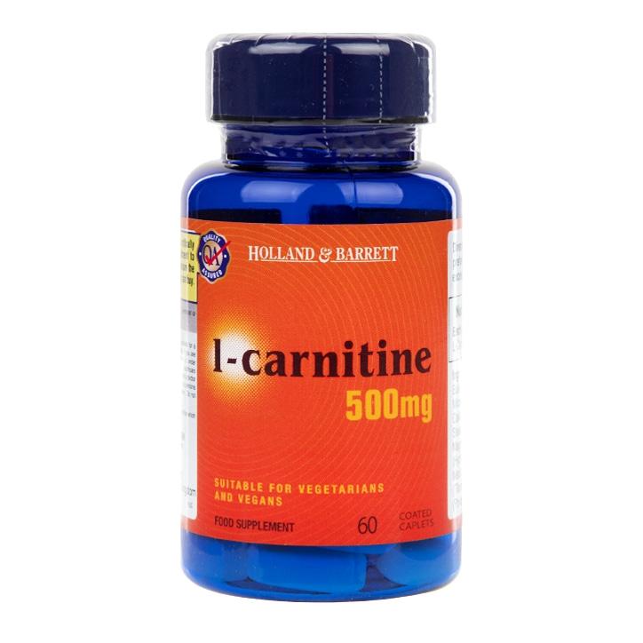 Holland & Barrett l-carnitine 30 Caplets 500mg