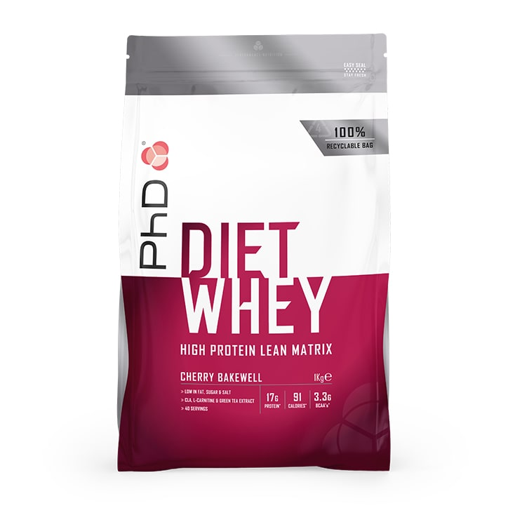 PhD Diet Whey Powder Cherry Bakewell 1000g