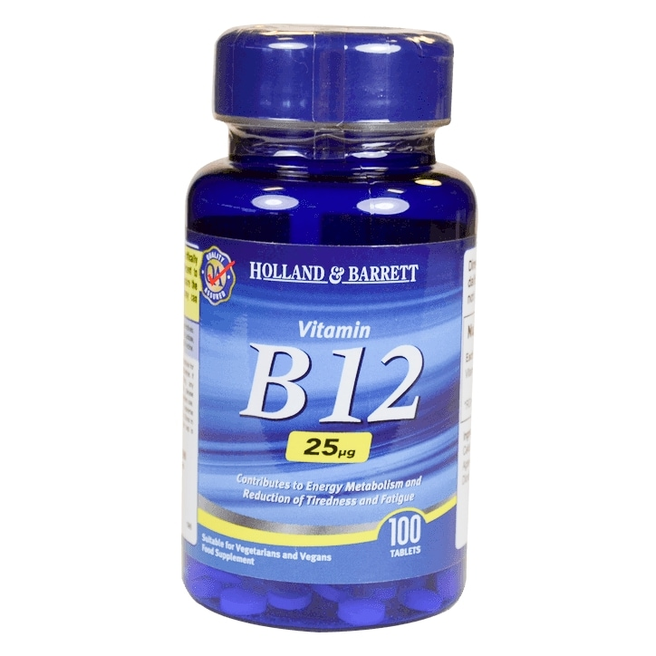 Holland & Barrett Vitamin B12 100 Tablets 25ug