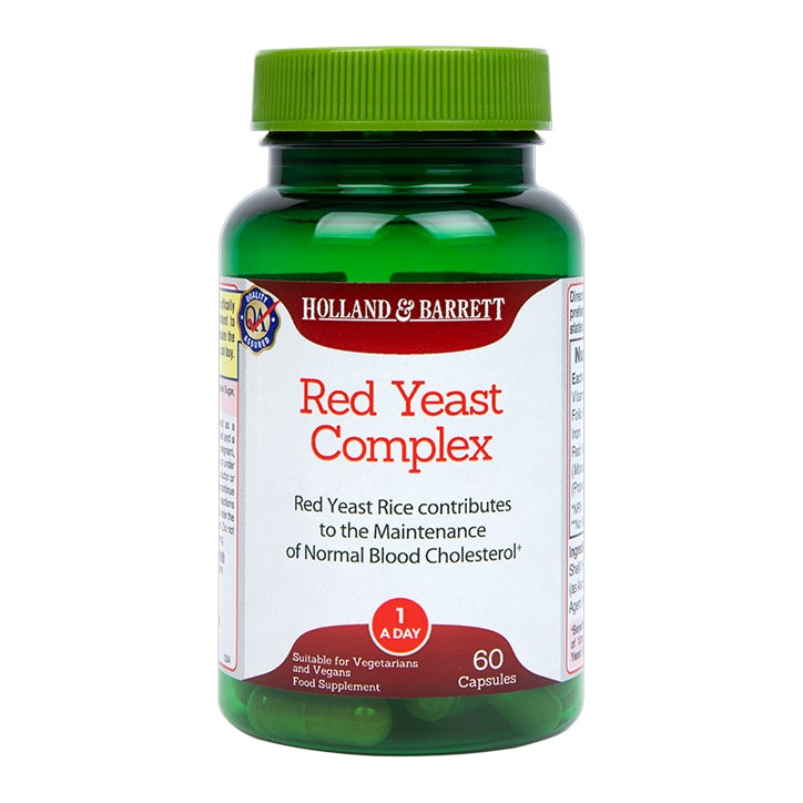 Holland & Barrett Red Yeast Complex 600mg 60 Capsules