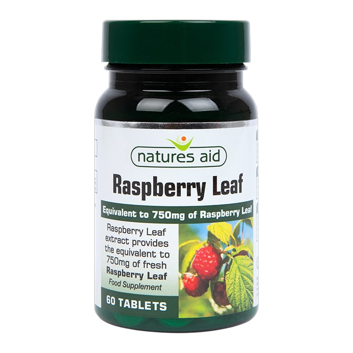 Natures Aid Raspberry Leaf 60 Tablets 750mg