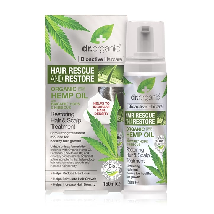 Dr Organic Hemp Oil Rescue & Restore Hair & Scalp Treatment 150ml