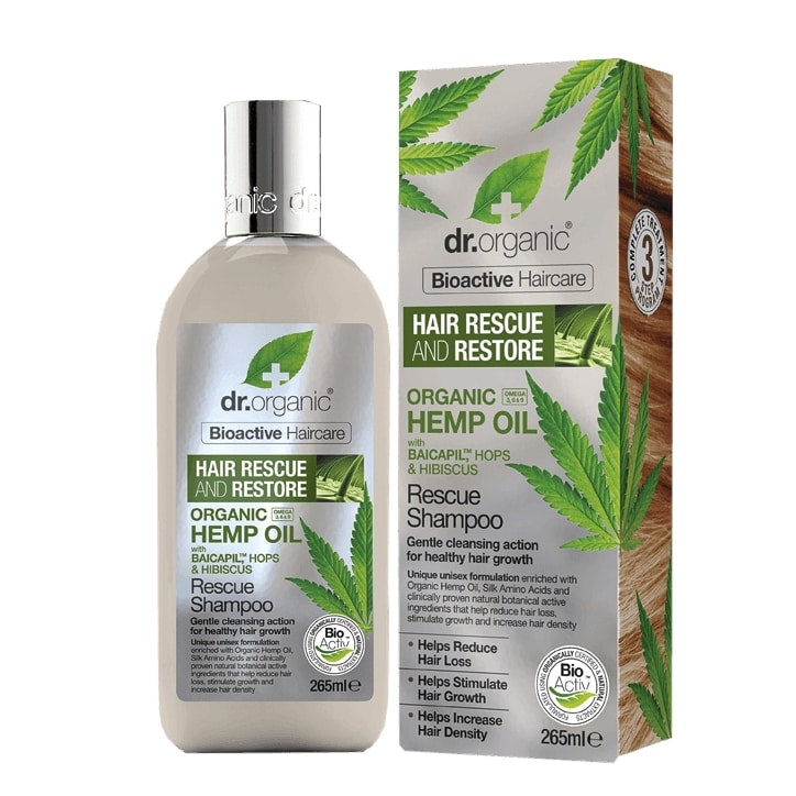 Dr Organic Hemp Oil Rescue & Restore Shampoo