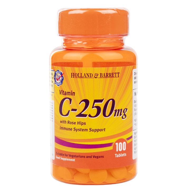 Holland & Barrett Vitamin C With Wild Rose Hips Tablets 250mg