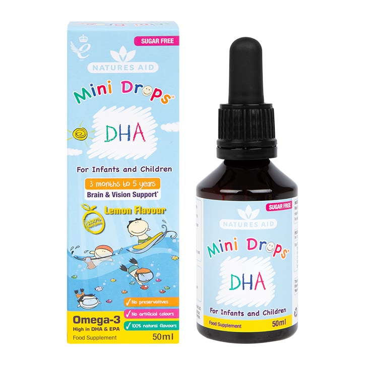 Nature's Aid DHA Drops Lemon 50ml