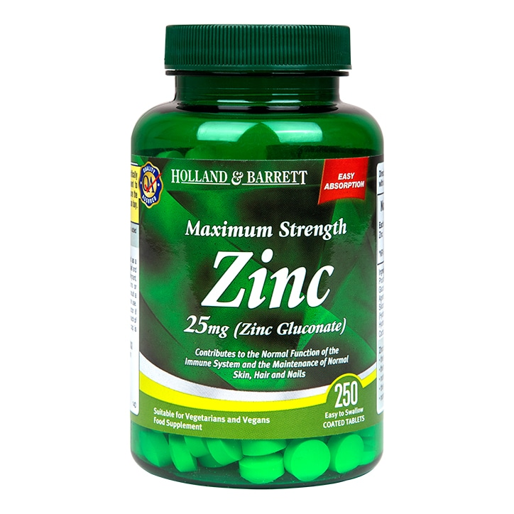 Holland & Barrett Zinc 250 Tablets 25mg
