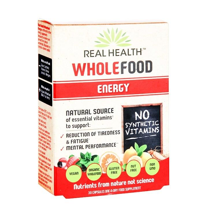 Real Health Wholefood Energy 30 Capsules