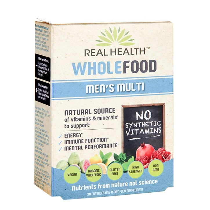 Real Health Wholefood Men's Multi 30 Capsules