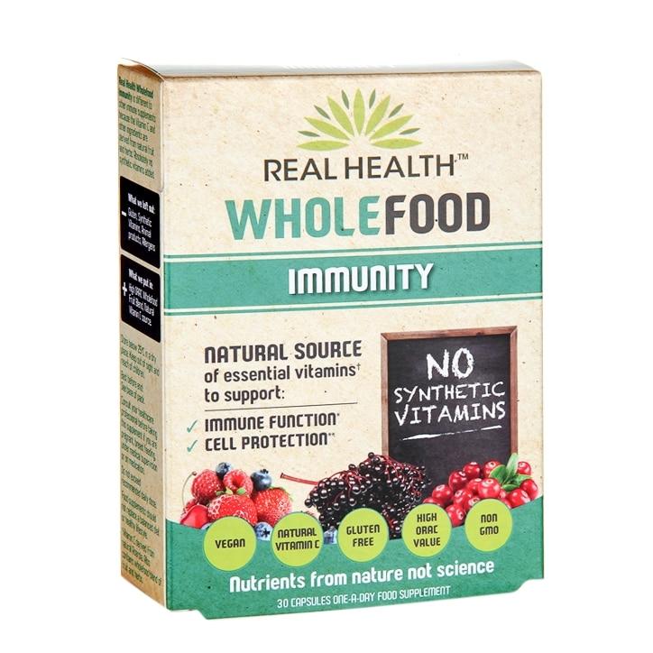 Real Health Wholefood Immunity 30 Capsules
