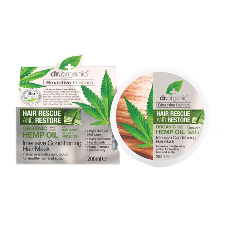 Dr Organic Hemp Oil Rescue & Restore Intensive Conditioner 200ml