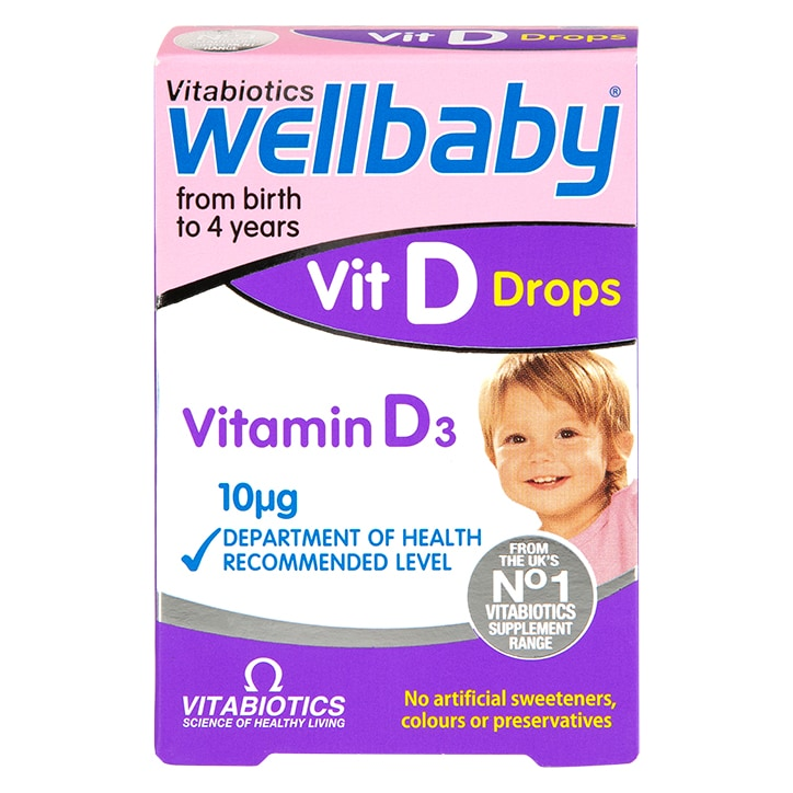Vitabiotics Wellbaby Vitamin D-Drops 10μg 30ml