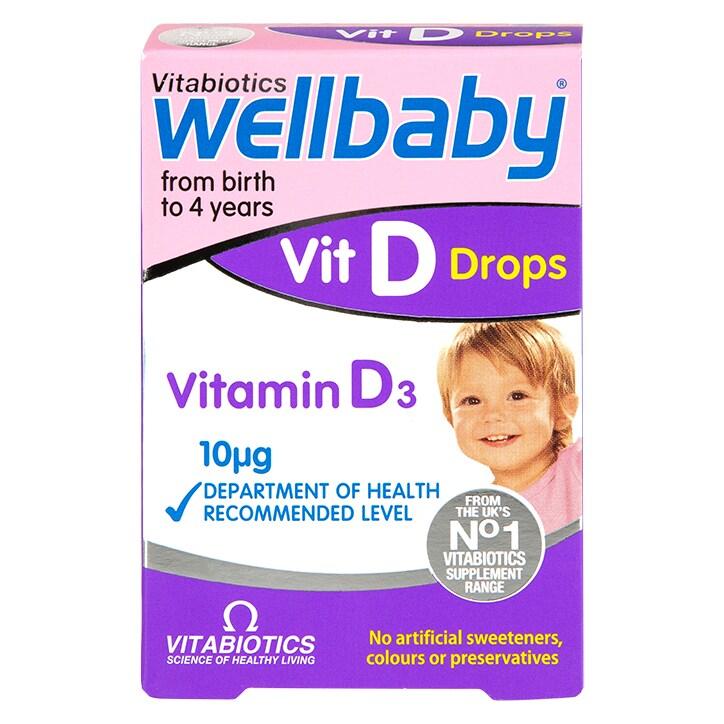 855b73f3b7ac Vitabiotics Wellbaby Vitamin D-Drops 10μg 30ml £5.29