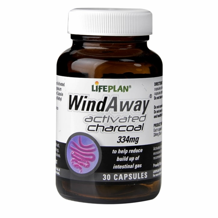 Lifeplan WindAway Activated Charcoal Capsules 334mg