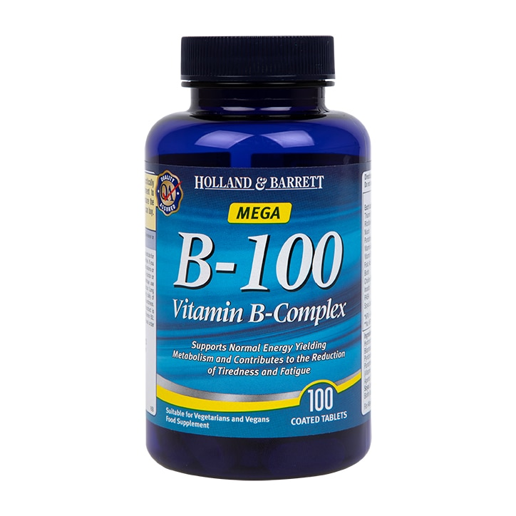 Holland & Barrett Time Release B  100 Vitamin B Complex 100 Caplets 100mg