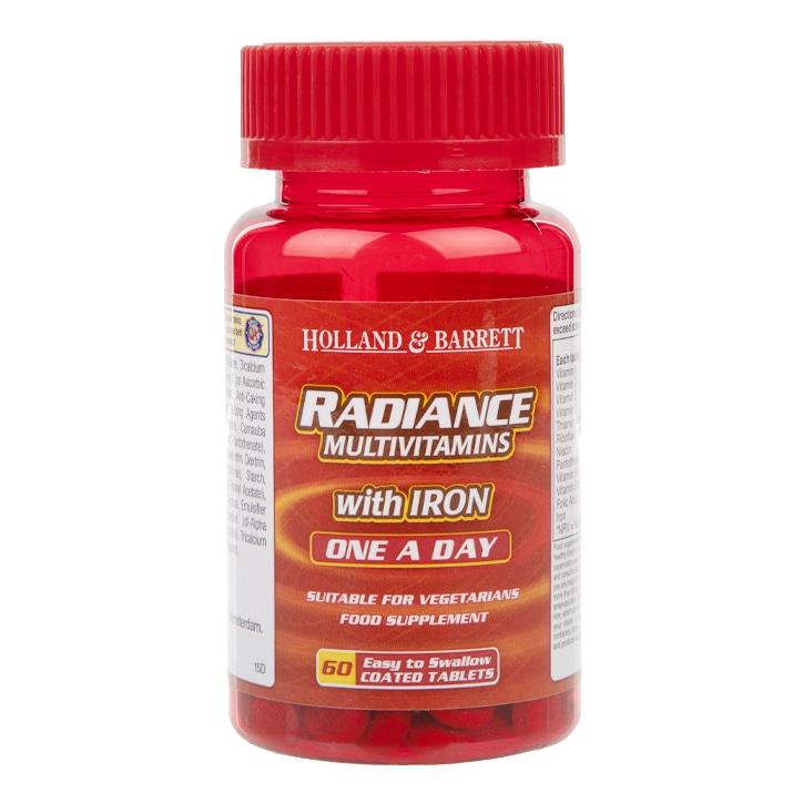 Holland & Barrett Radiance Multi Vitamins & Iron One a Day 60 Tablets