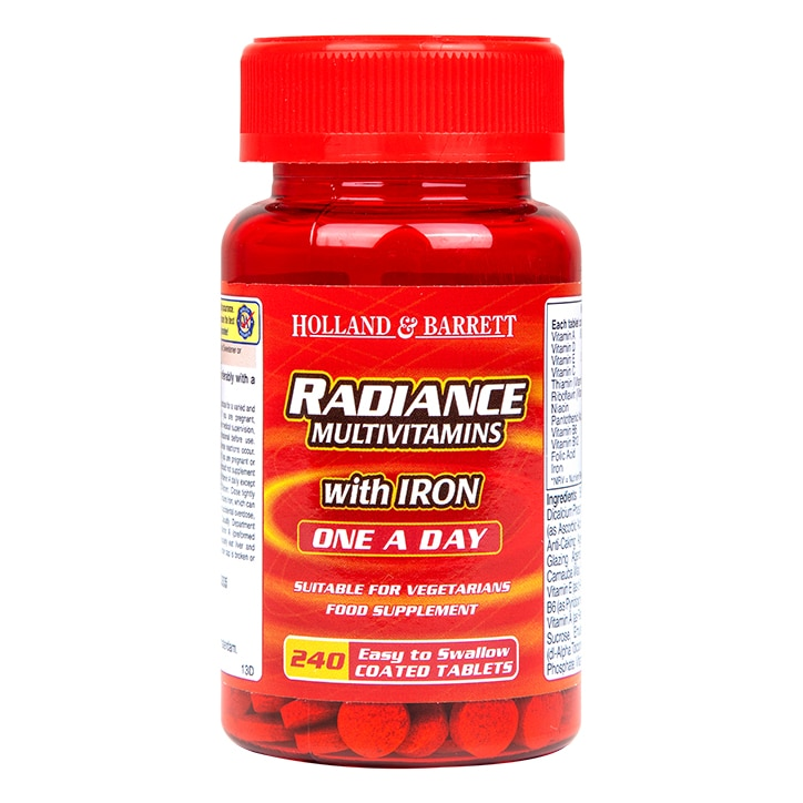 Holland & Barrett Radiance Multi Vitamins & Iron One a Day Tablets