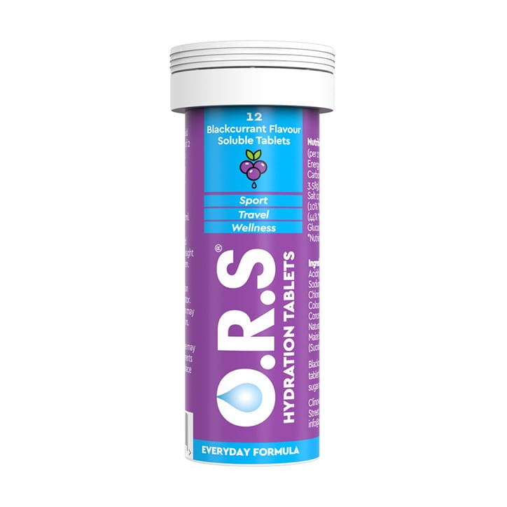ORS Hydration Blackcurrant 12 Soluble Tablets