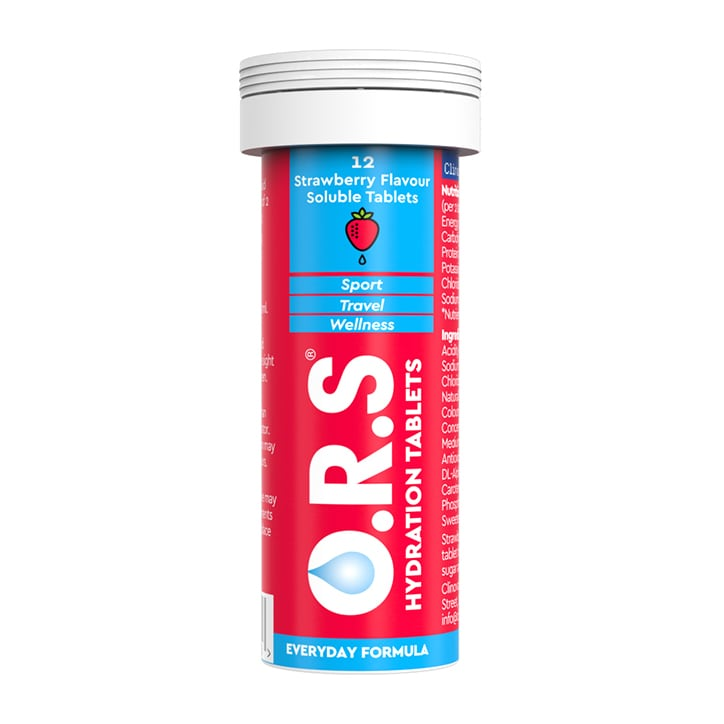 ORS Hydration Strawberry Soluble Tablets