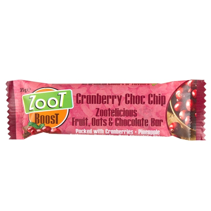 Zoot Foods Energy Bars Cranberry Choc Chip 35g