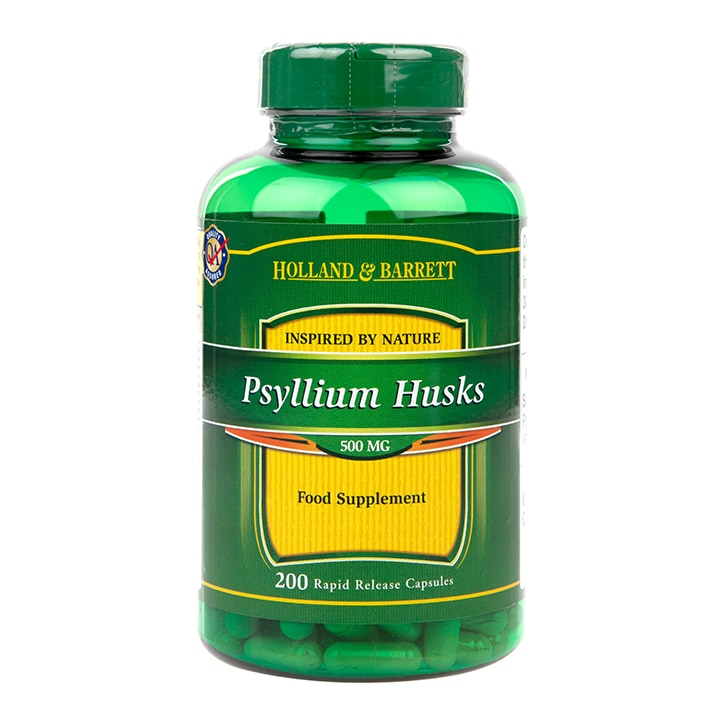 Holland & Barrett Psyllium Husks Capsules 500mg