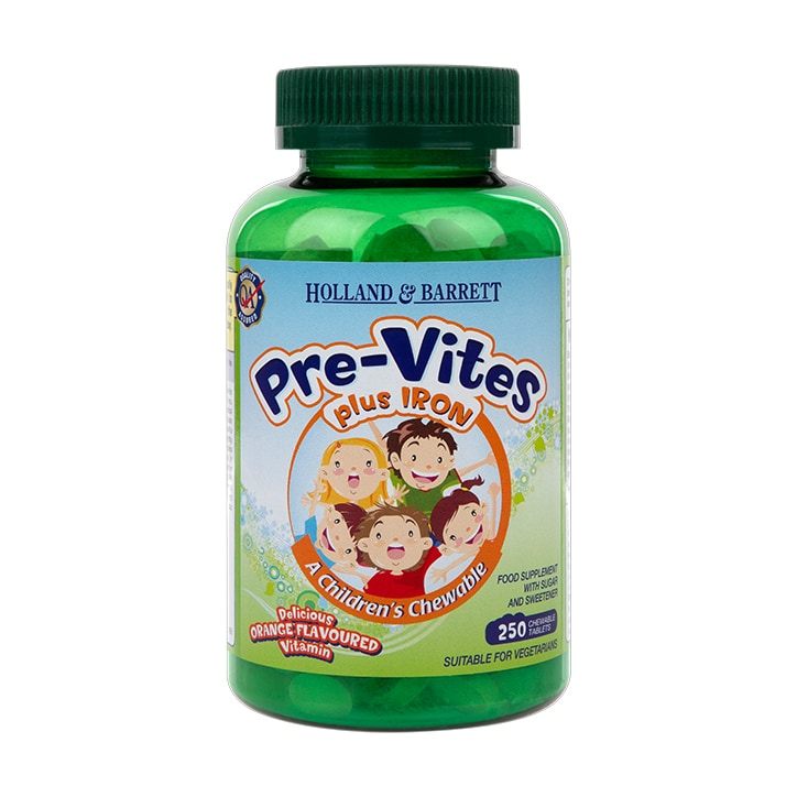 Holland & Barrett PreVites with Iron Chewables 250 Tablets