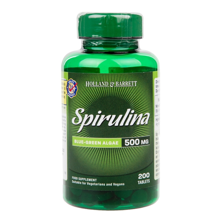 Holland & Barrett Spirulina 200 Tablets 500mg