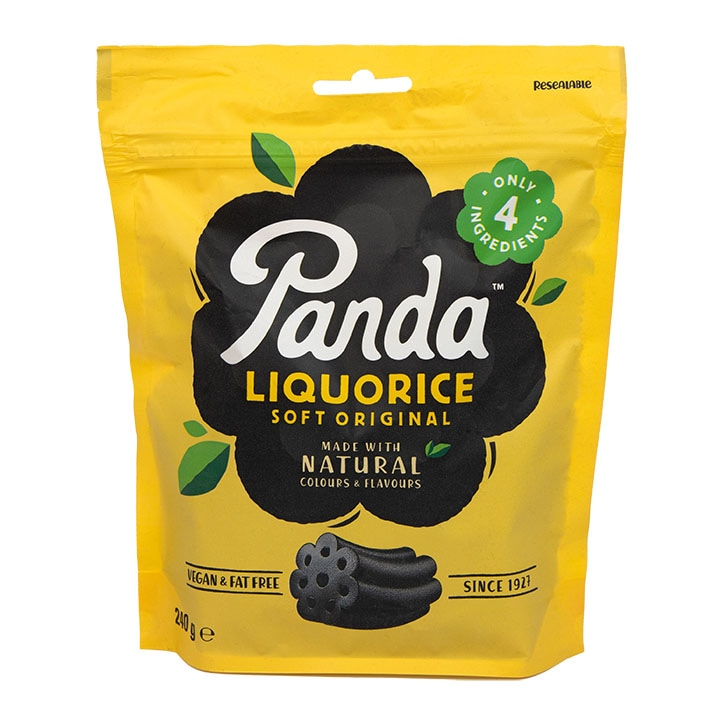 Panda All Natural Soft Liquorice 240g Bag