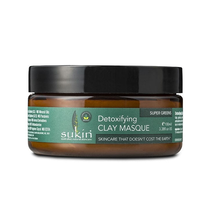 Sukin Super Greens Detoxifying Clay Masque 100ml
